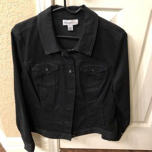 Style & Co Black Denim jacket large